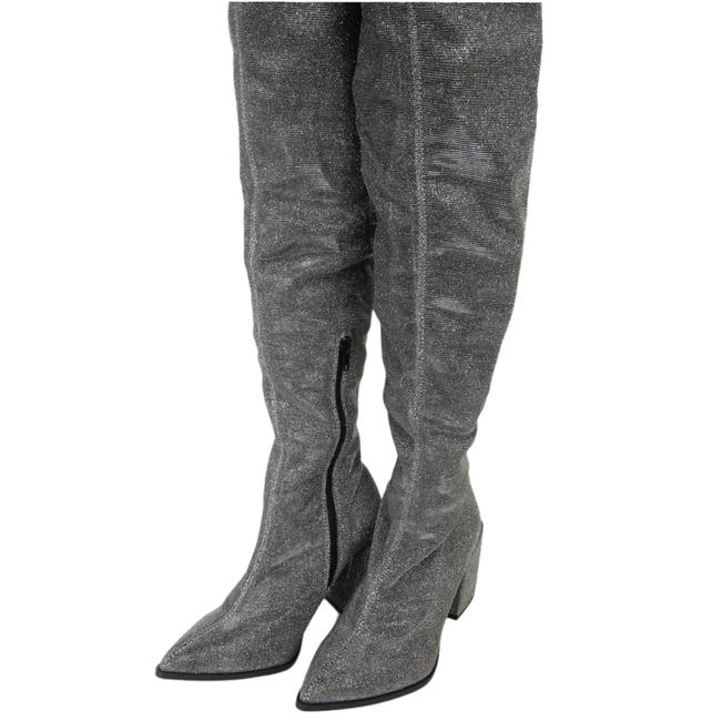 Item - Silver Aurelie Pointed-toe Over The Knee Boots/Booties Size US 7 Regular (M, B)
