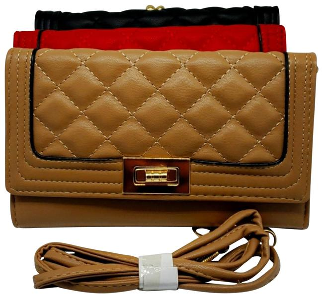Item - 3 Quilted Flap Set Luxury Vegan Leather Clutch