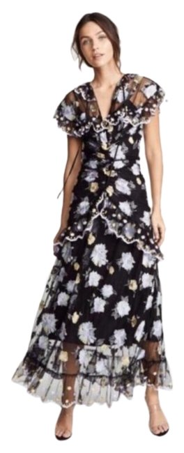 Item - Multicolor Delicately Floating Maxi Long Formal Dress Size 2 (XS)
