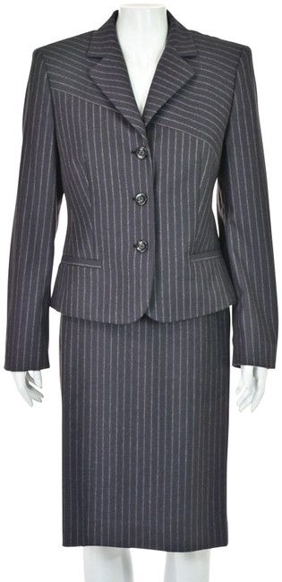 Item - Eggplant Wool and Angora Blend Vintage Skirt Suit Size 8 (M)