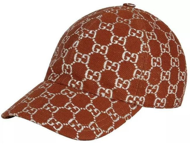 Item - Brown Silver Gg Lame New Sparkling Current Wool Logo Baseball Cap 56/S Hat