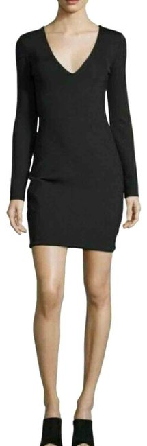 The Row Black Myrna Long-sleeve V-neck Large (D3 Cocktail Dress Size 12 (L) The Row Black Myrna Long-sleeve V-neck Large (D3 Cocktail Dress Size 12 (L) Image 1