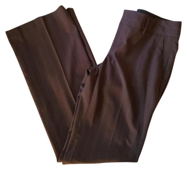 Item - Brown & White Stripes Factory Martin Fit Pants Size 4 (S, 27)