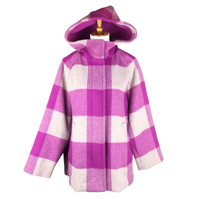 Item - Purple Gray Plaid Wool Coat Size 8 (M)