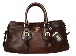 Prada Satchel in Brown with Gradient Accent