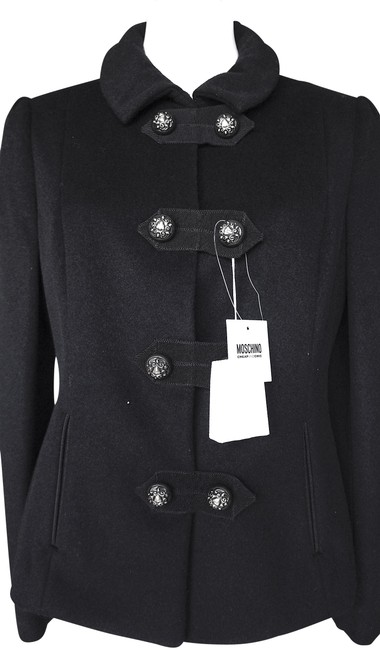 Item - Black with Tag Toggle Wool-blend Coat Jacket Size 12 (L)