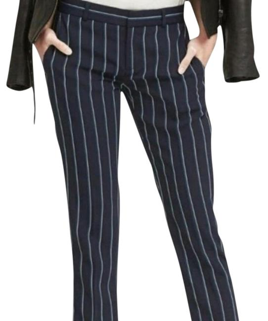 Item - Blue and White Stripes Avery Mid Rise Ankle Length Pants Size 2 (XS, 26)