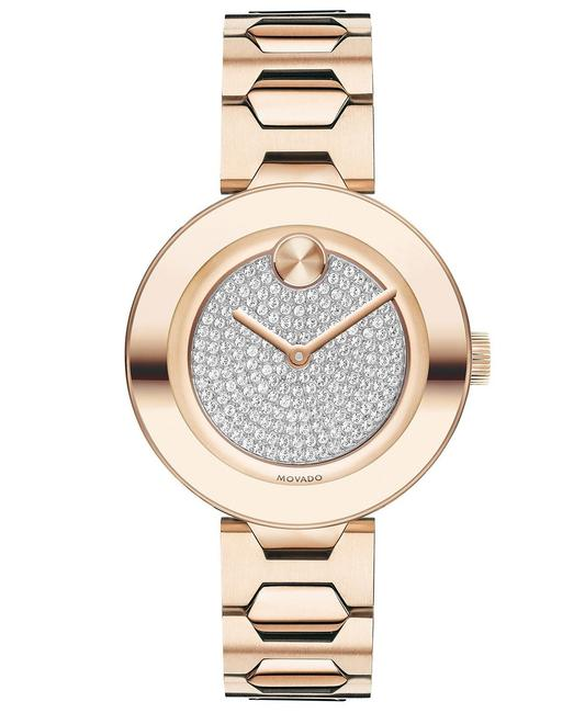 Item - Rose Gold Stainless Bracelet Pave Crystal Womens 3600493 Watch