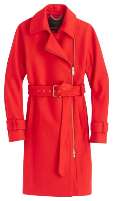 Item - Red Nwt. Belted Wool Coat Size 16 (XL, Plus 0x)
