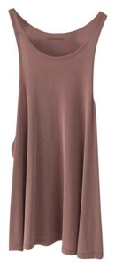 dee elle Racer-back Relaxed Ribbed Top Pink