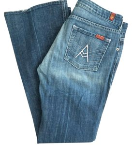 7 For All Mankind Distressed Boot Cut Jeans-Distressed