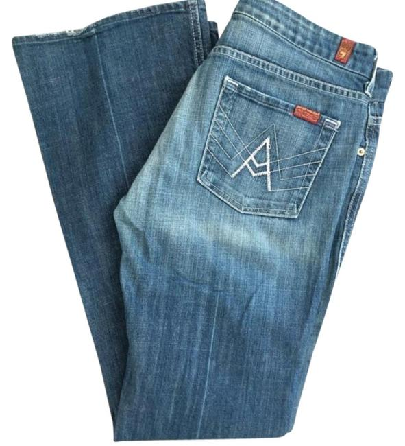 Item - Blue Distressed Boot Cut Jeans Size 30 (6, M)