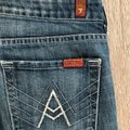 7 For All Mankind Blue Distressed Boot Cut Jeans Size 30 (6, M) 7 For All Mankind Blue Distressed Boot Cut Jeans Size 30 (6, M) Image 7