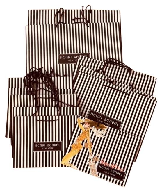Item - Set Of 14 Iconic Shopping Bags Brown/White Canvas Tote
