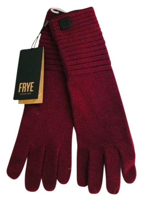 Item - Red Women's Knitted Gloves