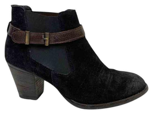 Item - Black Brown Suede Ankle Strap Boots/Booties Size US 6 Regular (M, B)