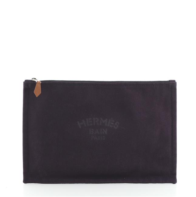 Item - Flat Yachting Pouch Toile Gm Purple Canvas Clutch