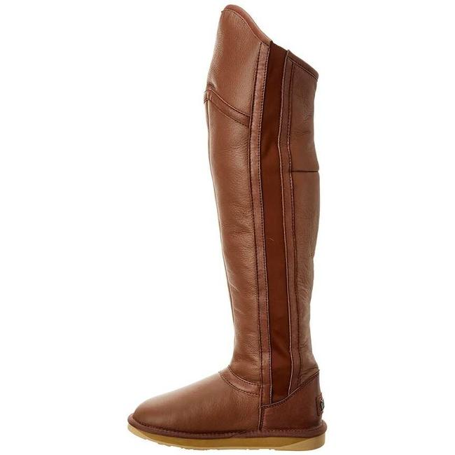 Item - Brown Sz6 Nerio Leather Twin-faced Sheepskin Over The Knee Otk Stretch Boots/Booties Size EU 36 (Approx. US 6) Regular (M, B)