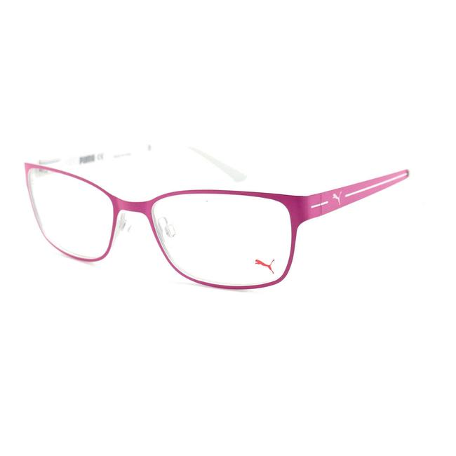 Item - Fuchsia/White Eyeglasses Women Full Rim Rectangle 53 17 140 Metal Pe0015o0025317140