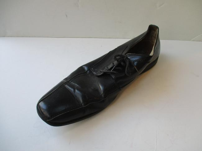 Item - Black Classic Lace-up Square Toe Oxford Shoes