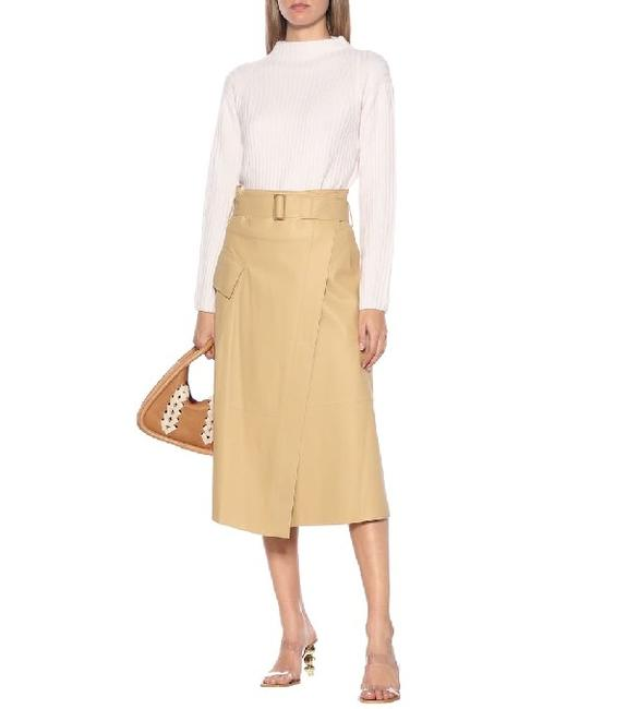 Item - Nude High-rise Leather Wrap Skirt Size 2 (XS, 26)