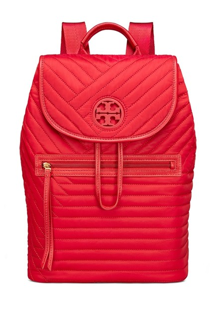 Item - Red Quilted Nylon Backpack