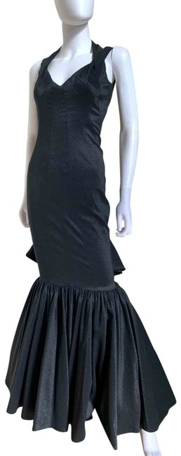 Item - Black Shimmer Mermaid Maxi Long Formal Dress Size 4 (S)