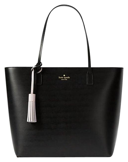 Item - Wright Place Karla Black/Plum Dawn Smooth Leather Tote