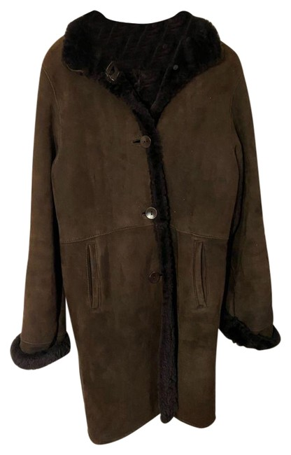 Item - Brown Shearling Small Made In Usa Msrp 300 Jacket Size 6 (S)