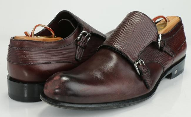 Item - Burgundy Greenwich Buckles Epi Leather Shoes