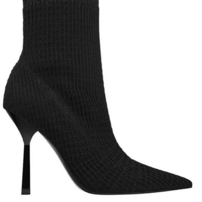 Item - Black New with Tags Elastic Heeled Boots/Booties Size US 7.5 Regular (M, B)