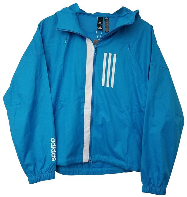 Item - Blue Womens Hooded Wind Small Activewear Outerwear Size 6 (S)