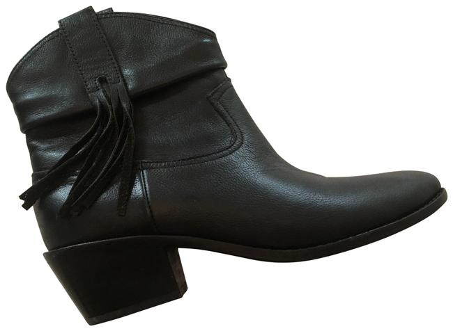 Item - Black Western Looking Leather Boots/Booties Size US 7 Regular (M, B)
