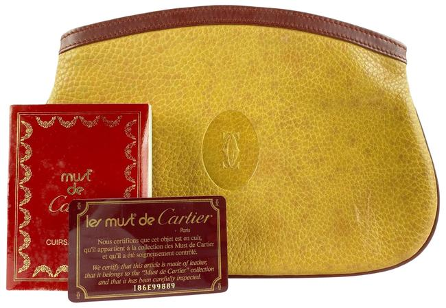 Item - 4cts127 Beige Leather Clutch