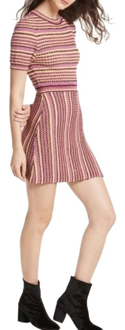 Item - Tan Brown Women Into You Midi New Short Casual Dress Size 4 (S)