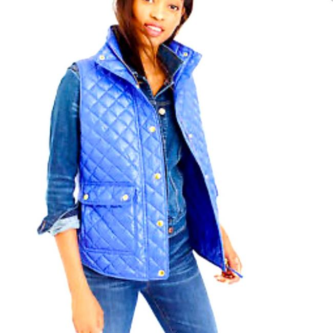 Item - Blue XS Shiny Quilted Down Puffer Field Vest Size 2 (XS)