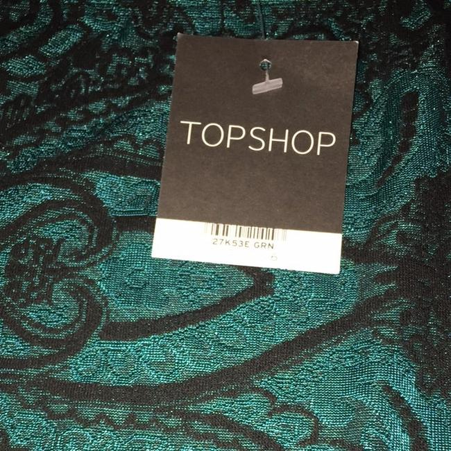 Topshop Skirt Emerald Green, Black