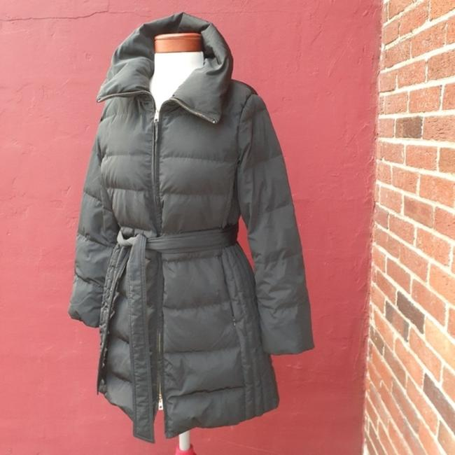 Talbots Black Quilted Longline Belted Goose Down Blogger Fave Christmas Coat Size 12 (L) Talbots Black Quilted Longline Belted Goose Down Blogger Fave Christmas Coat Size 12 (L) Image 2