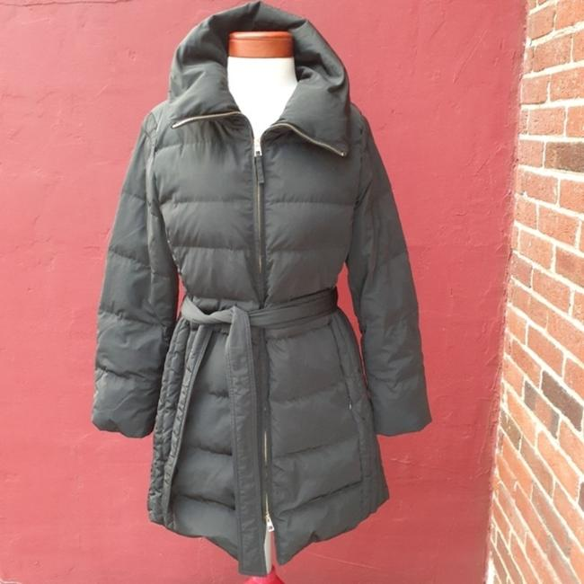 Talbots Black Quilted Longline Belted Goose Down Blogger Fave Christmas Coat Size 12 (L) Talbots Black Quilted Longline Belted Goose Down Blogger Fave Christmas Coat Size 12 (L) Image 3