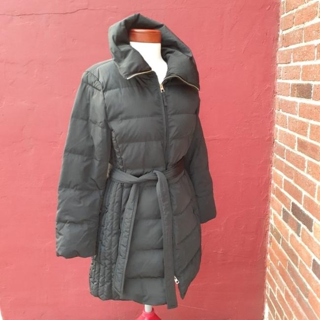 Talbots Black Quilted Longline Belted Goose Down Blogger Fave Christmas Coat Size 12 (L) Talbots Black Quilted Longline Belted Goose Down Blogger Fave Christmas Coat Size 12 (L) Image 4