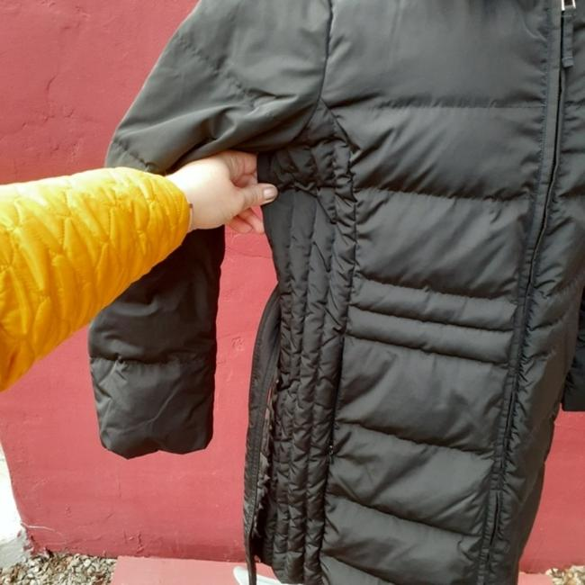 Talbots Black Quilted Longline Belted Goose Down Blogger Fave Christmas Coat Size 12 (L) Talbots Black Quilted Longline Belted Goose Down Blogger Fave Christmas Coat Size 12 (L) Image 6