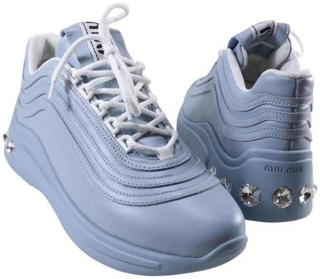 Item - Blue Calzature Donna Chunky Crystal Sparkle Embellished D076 Sneakers Size EU 40 (Approx. US 10) Regular (M, B)