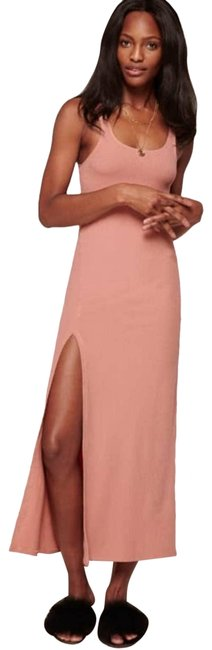 Item - Pink L Ribbed Paltrow Long Casual Maxi Dress Size 14 (L)