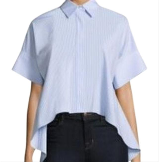 Item - Blue Pinstripe Button-down Top Size 2 (XS)