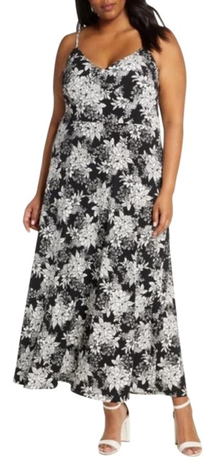 Item - Black Boudoir Botanical Long Casual Maxi Dress Size 22 (Plus 2x)