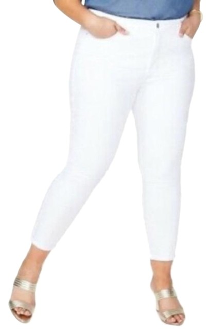 Item - White Coated Ami Stretch Ankle Optic Skinny Jeans Size 18 (XL, Plus 0x)