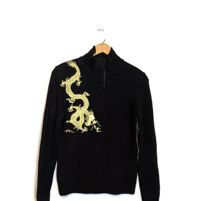 Item - Dragon Black and Gold Sweater