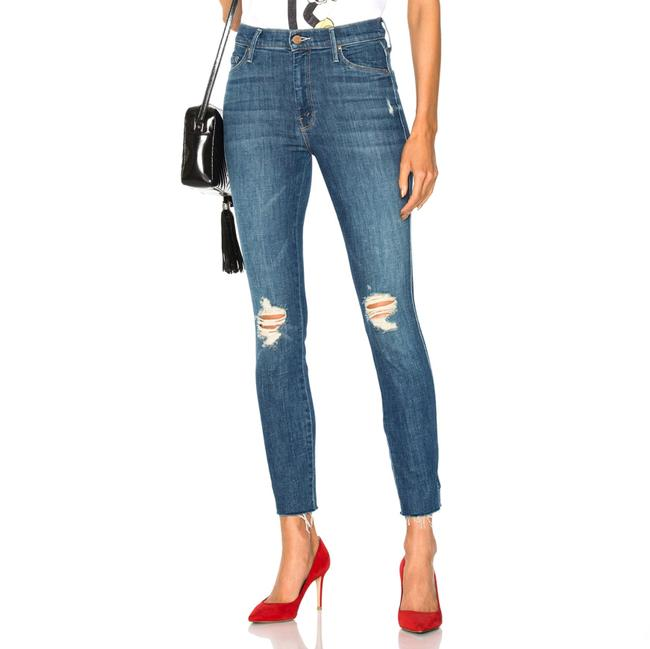 Item - Blue Distressed Vamp Fray High-rise Skinny Jeans Size 8 (M, 29, 30)