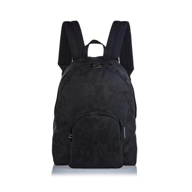 Item - Printed Jacquard Black Fabric Backpack