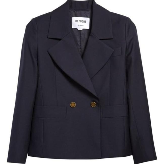 Item - Navy '80s Double Breasted Blazer Size 4 (S)